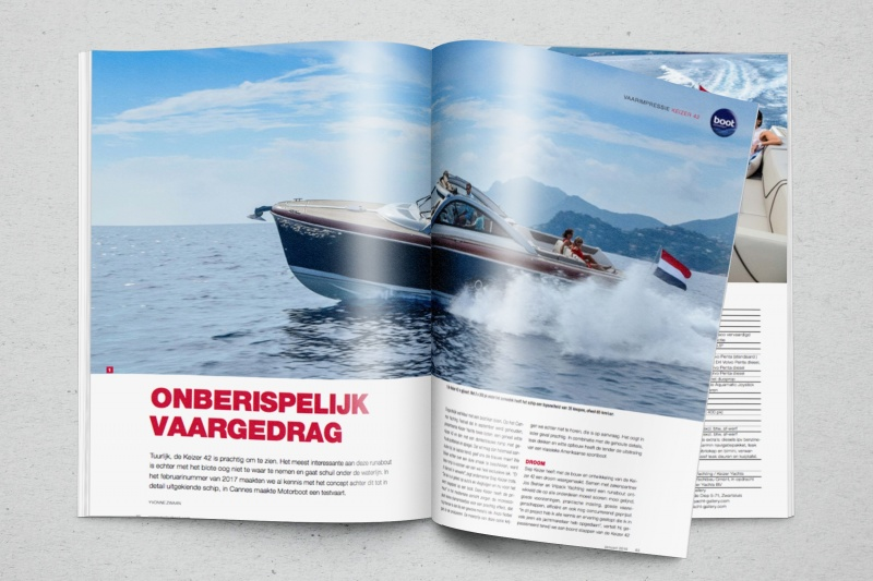 Great review Keizer 42 in Dutch magazine 'Motorboot'